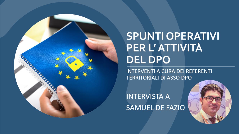 Intervista Samuel De Fazio ASSO DPO